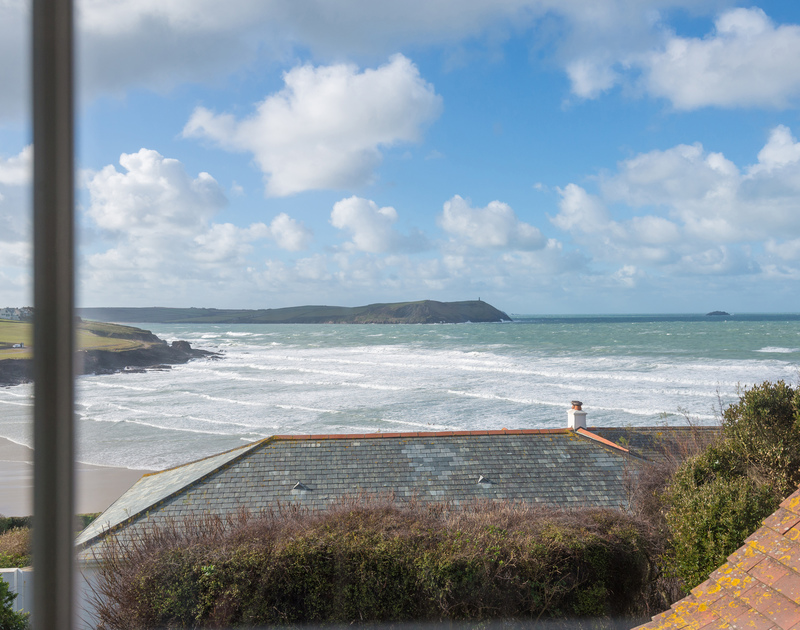 another view point from the master bedroom at Pemberton in New Polzeath
