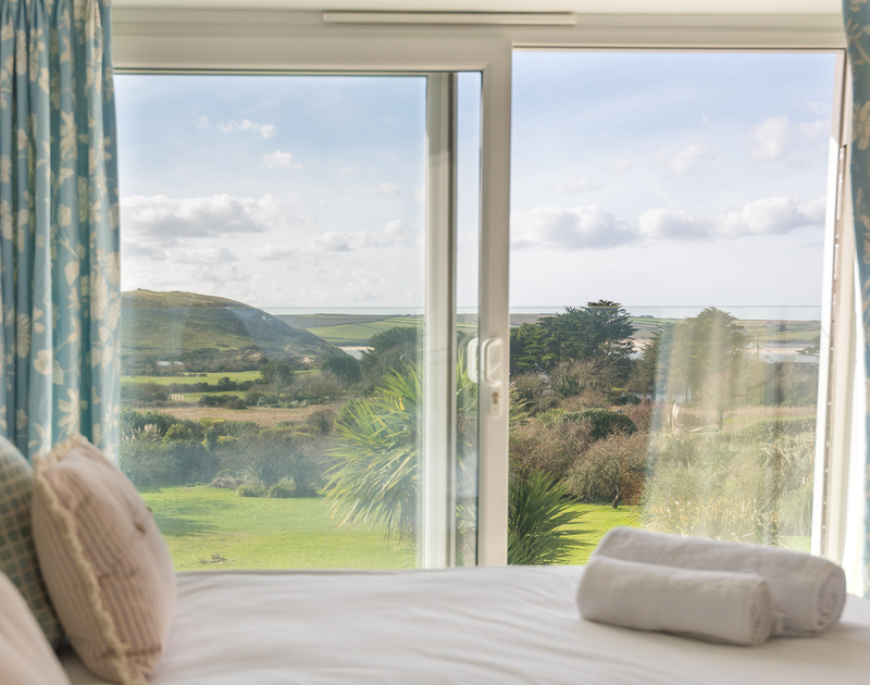 Wake up to the coastal view in the master bedroom at Hob House