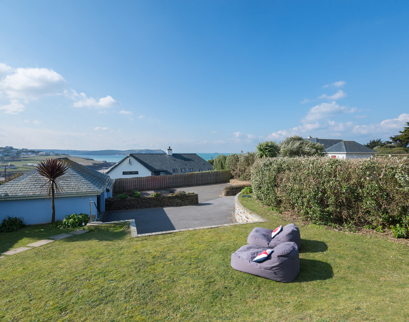 PLenty of outside furniture at Bryher, a luxury self catering holiday home in New Polzeath