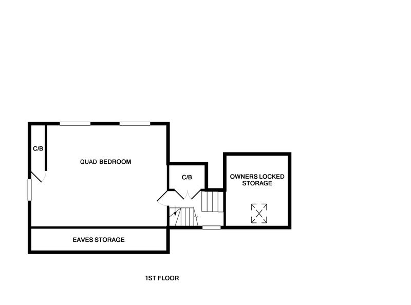 The first floor plans of self catering, family holiday house Sliggon Field in Trebetherick, Cornwall.