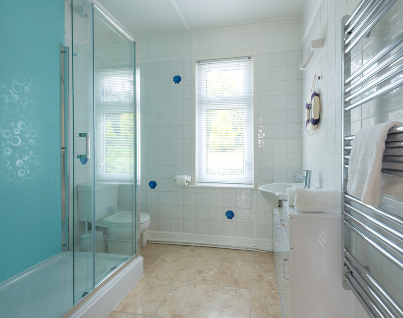 The shower room at Tamarisk, self catering holiday accommodation in Port Isaac in North Cornwall.