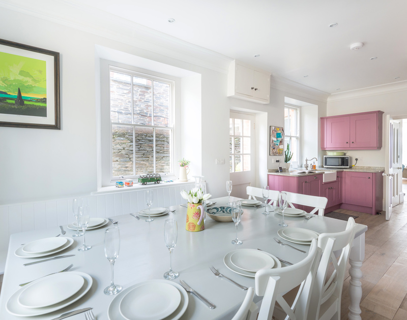 Natural light floods into the kitchen/dining room at 5, The Terrace, a holiday house in Rock.