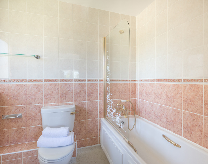 One of three bathrooms/shower rooms at Beaches a self catering holiday property near the beach at Polzeath in North Cornwall.