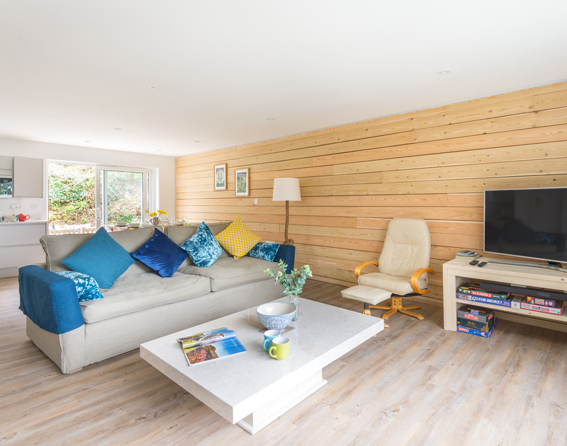 Open plan easy living at self catering Beaches, a  holiday house to rent in Polzeath, North Cornwall.