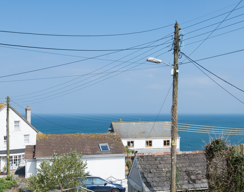 Ideal weather watching across the sea from newly refurbished, self catering holiday house Tregenna in Port Isaac, North Cornwall.