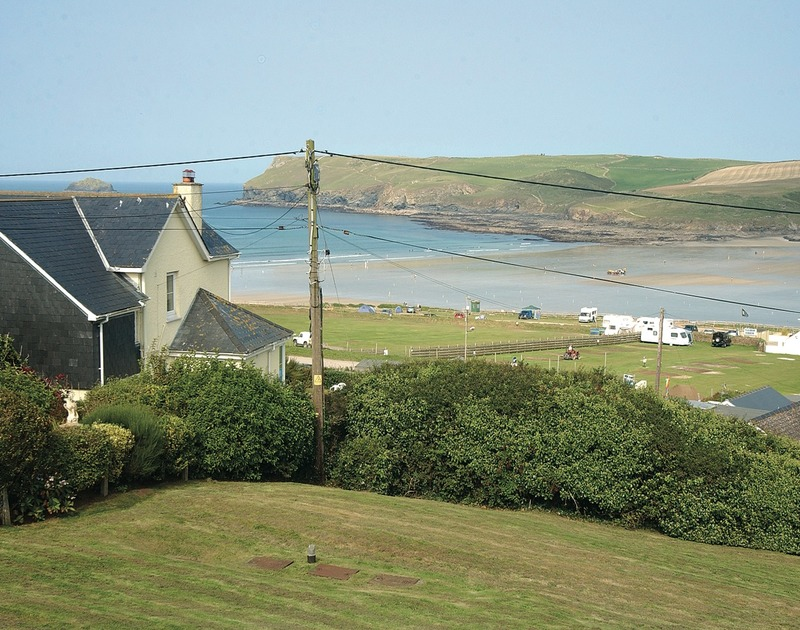The fabulous view over the beach and coastline from Zapadiah, a holiday rental in Polzeath, Cornwall