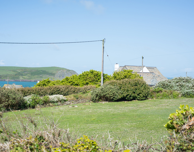 Views towards Stepper point over the Camel Estuary from the garden at Dolphins.