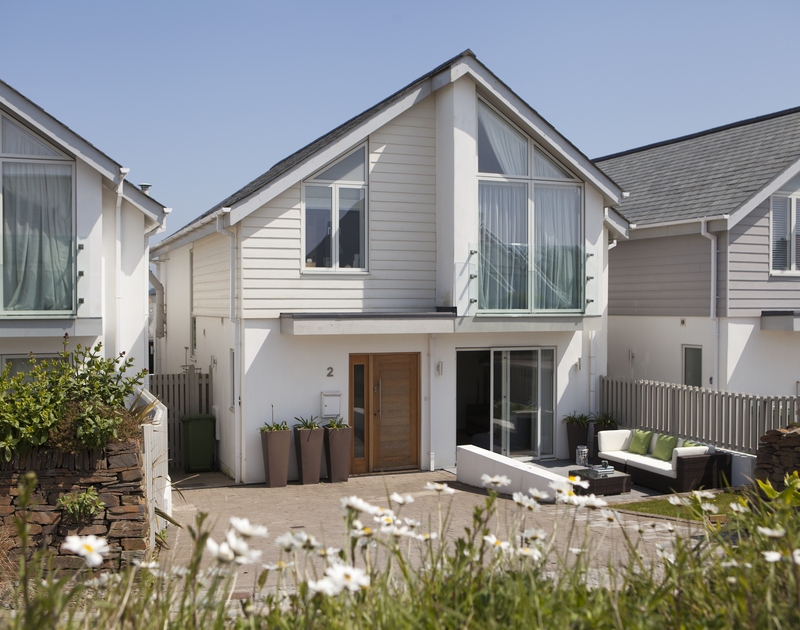 Private parking at the front of 2 The Sands, a luxury self catering holiday home in Polzeath, Cornwall.