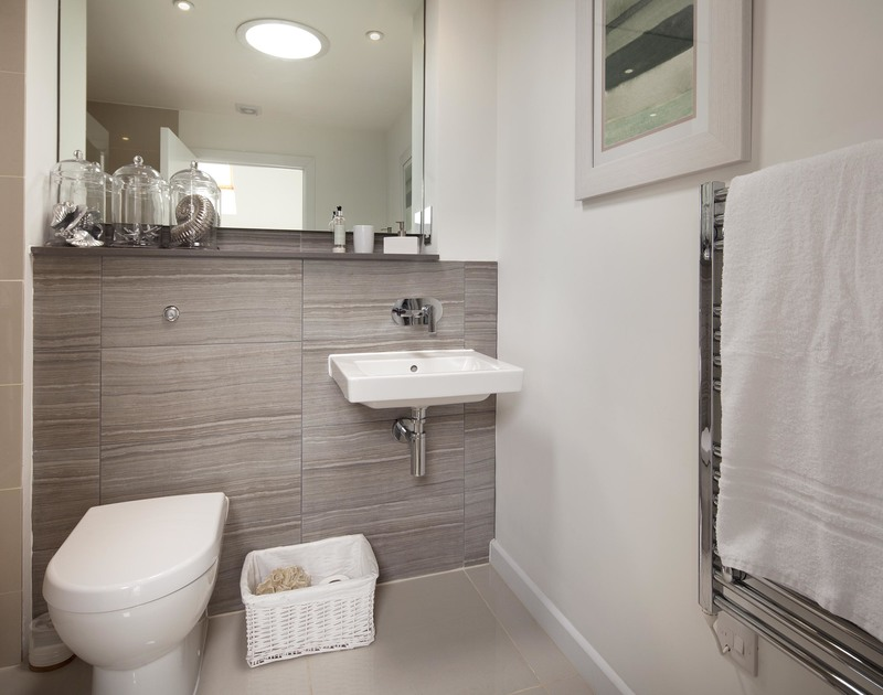 One of three contemporary bathrooms at self catering 2, The Sands.