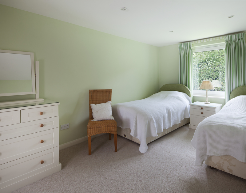 One of three ground floor bedrooms at holiday home, Anchorage 4 with an ensuite shower room.