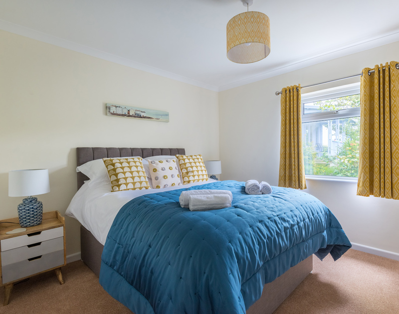 A king sized bedroom at Sliggon Field, a self catering holiday house close to the beaches in north Cornwall.