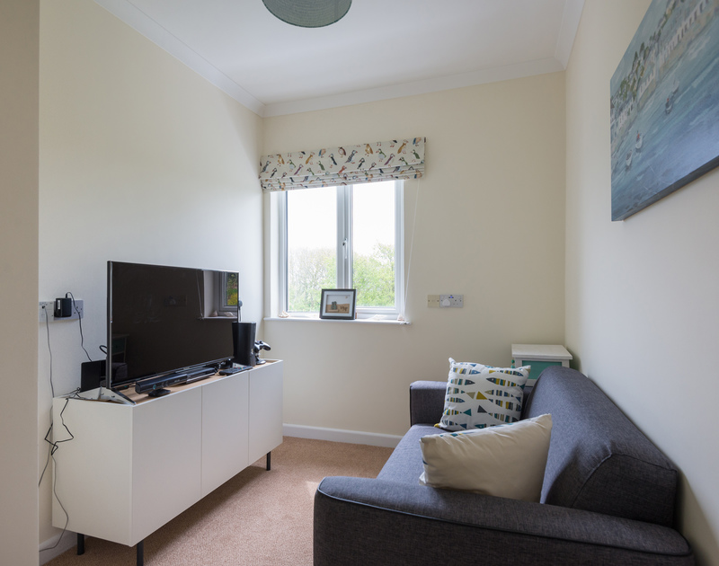 Great little snug/TV room at Sliggon Field, a self catering, family holiday house to rent close to Polzeath and Daymer Bay in Cornwall.