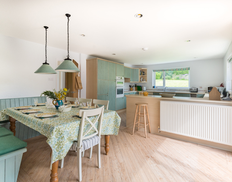 Spread out in the open plan kitchen/dining room at Tringa, a self catering, holiday house in Daymer bay.