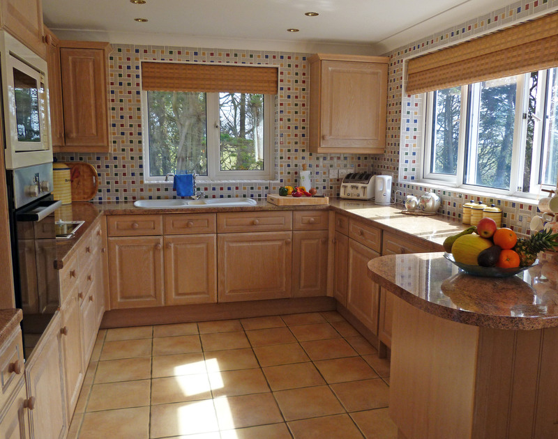 Traditional, country kitchen in Penina, a split level, holiday property in a peaceful location at the top of Polzeath village.