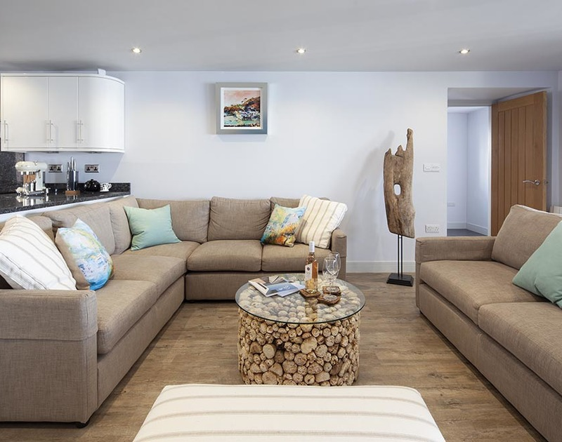 The Crows Nest in Port Isaac has a very comfortable living area with seating for all the family, where you can relax in style.