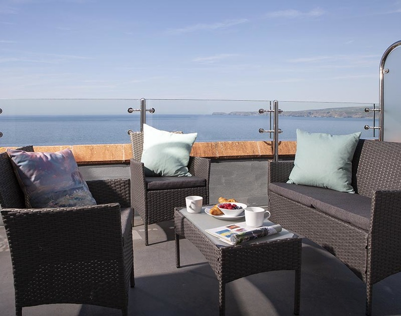 When you get to the Crows Nest you will want to hide yourself away on your own private balcony to drink in the sea views