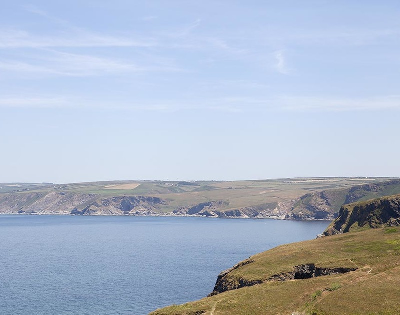 Spectacular views of the North Cornwall coast from luxury holiday home, The Crows Nest in Port Isaac, North Cornwall