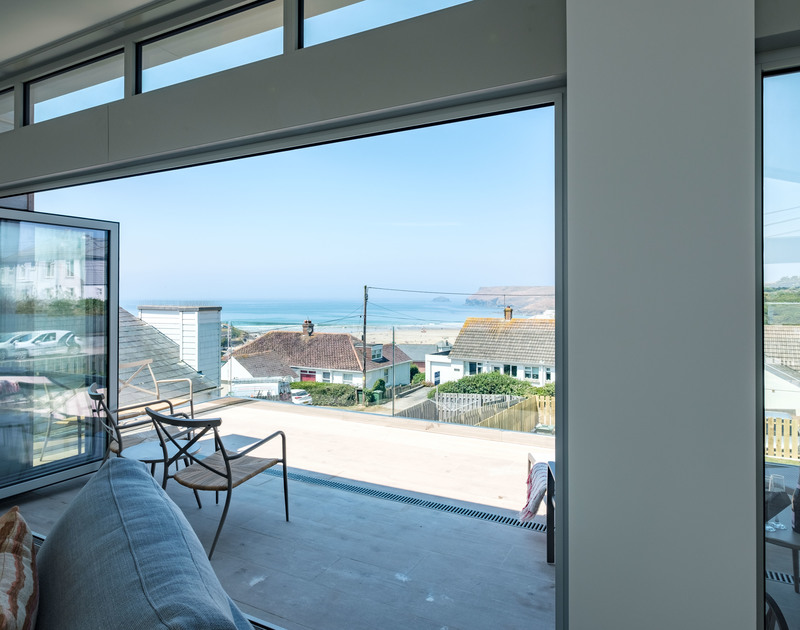 With a sea view like this one you may never leave Point Break - a luxury holiday home to rent in Polzeath, Cornwall