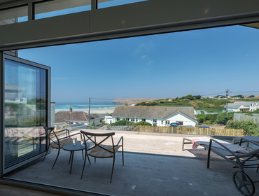 Luxuriate in stunning sea views from newly completed Point Break in Polzeath, North Cornwall available to let through John Bray Cornish Holidays
