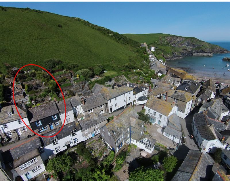 The wonderful scuppers and its garden, Port Isaac cornwall