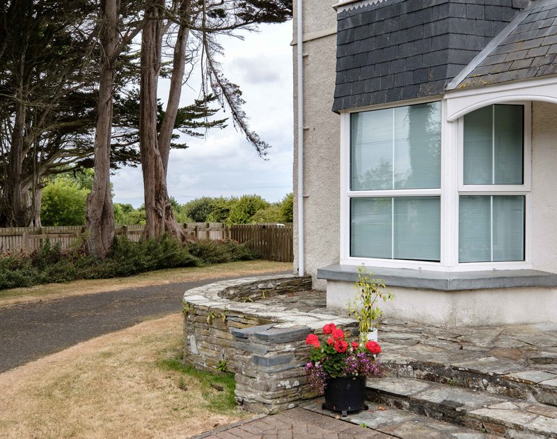 The front exterior of Lundy House on the Rock Road, St Martins apartment is on the ground floor and is suitable for a small family or a couple.