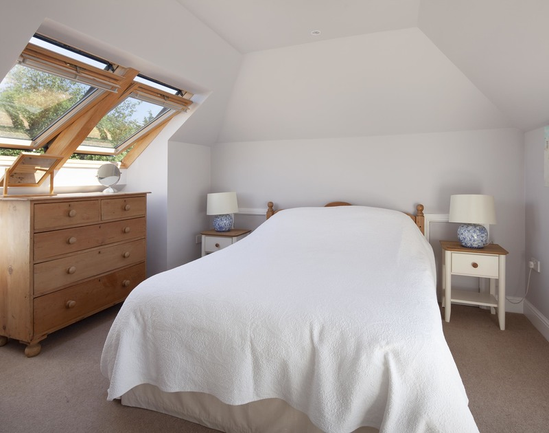 The second king sized bedroom, at Saltrock a holiday house to rent in Rock, Cornwall.