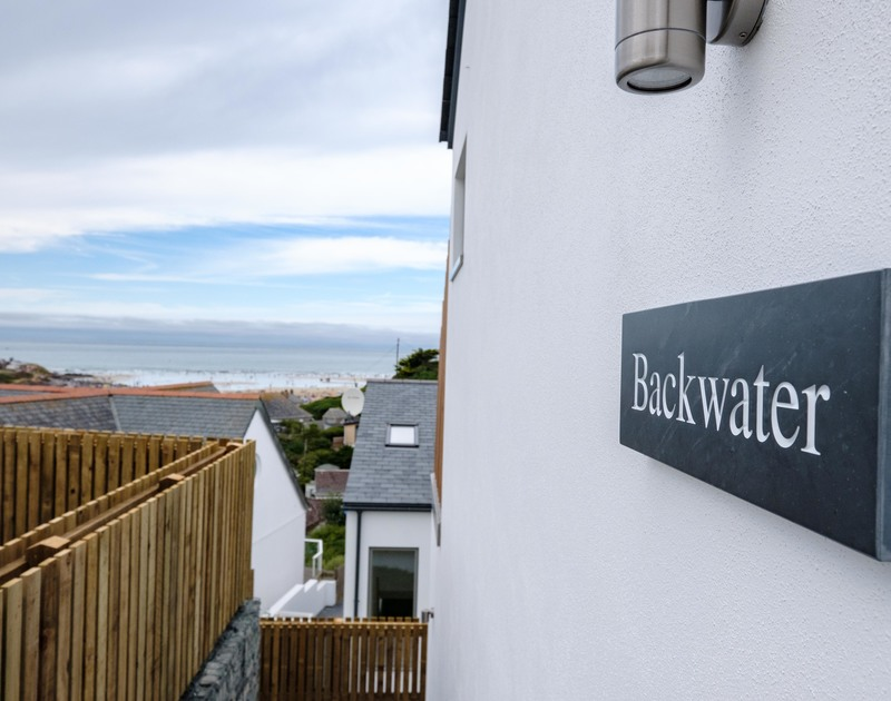 Views of the sea from luxury holiday house, Backwater in Polzeath.