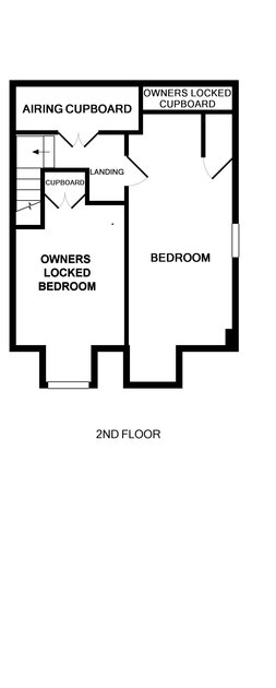 The second floor plan for self catering holiday house Crewsnest in Rock, Cornwall.