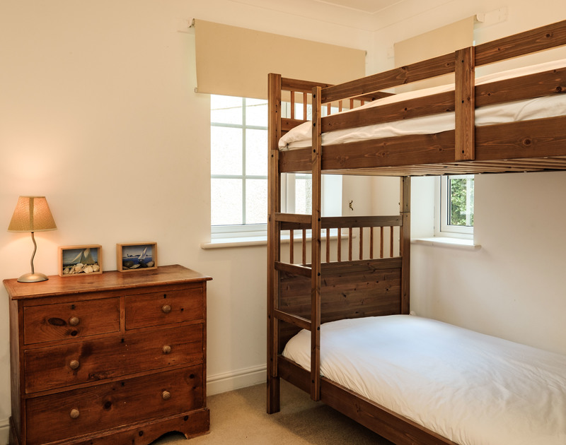 Bunk beds in the third bedroom which also has a pair of twin beds so ideal fun for four children at Bodare 1.