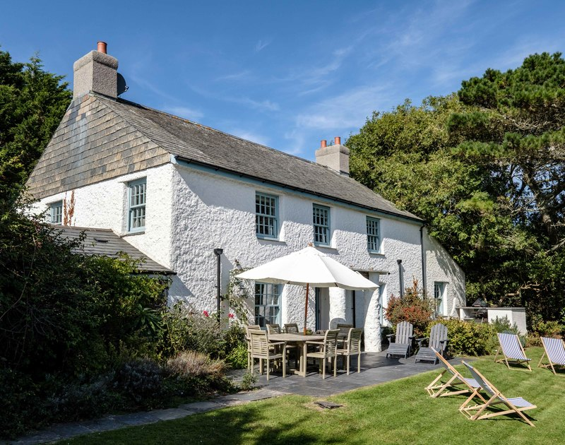 A view from the garden of Old Farm, a stunning, character holiday house at Daymer Bay, Cornwall