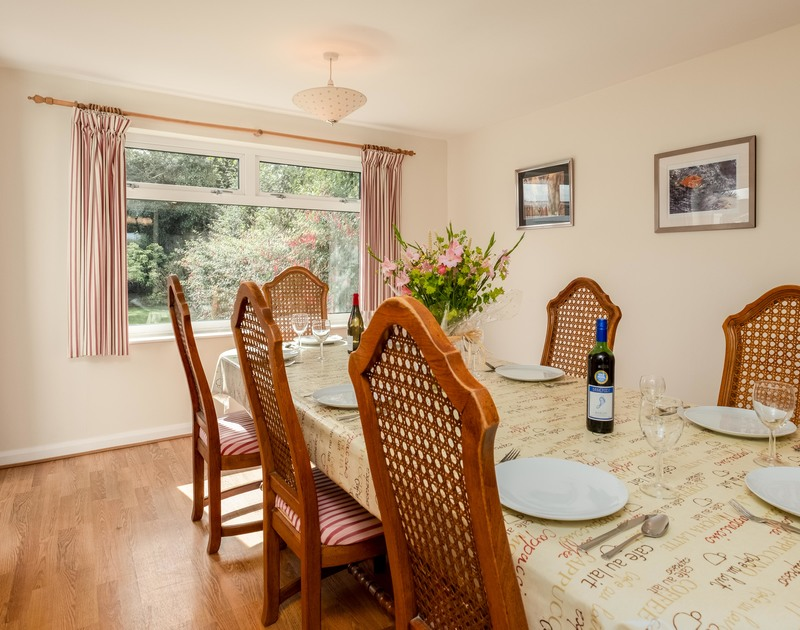 The light and sunny, spacious dining room at Whiteaway, a holiday house to rent in Rock, Cornwall