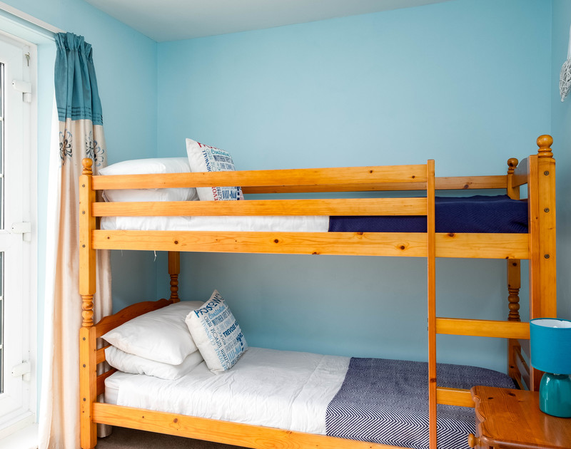 Childrens bunk room at self catering holiday rental Whitehay in Rock, Cornwall.