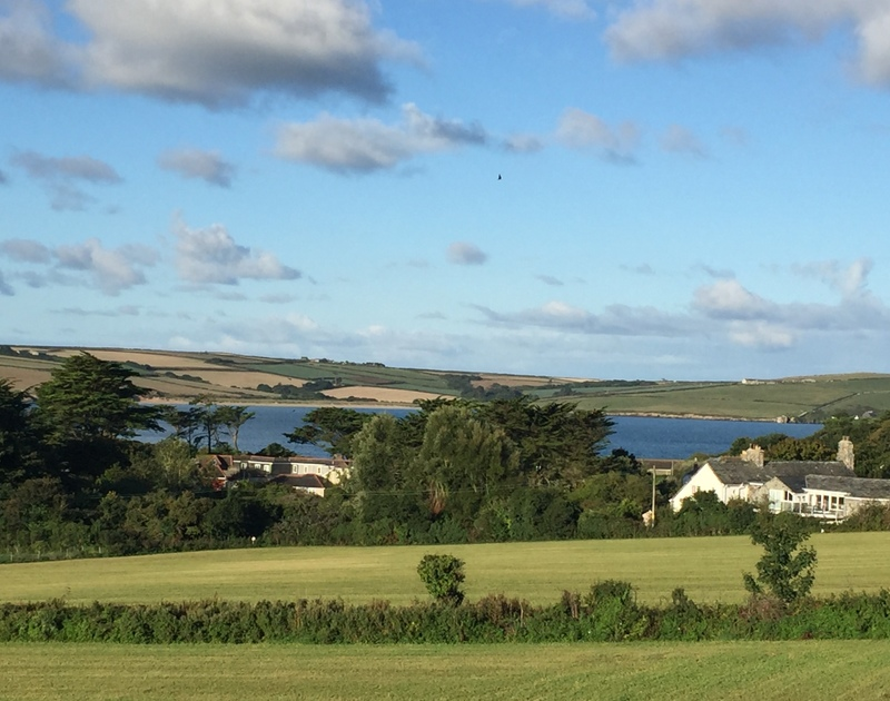 The stunning view of the camel estuary from Seaworthy holiday cottage near Daymer Bay, Cornwall