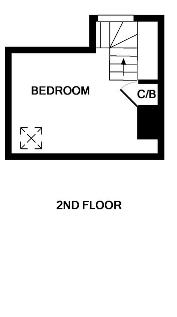 The second floor plan for Mobray, a self catering holiday cottage  to rent in Port Isaac.