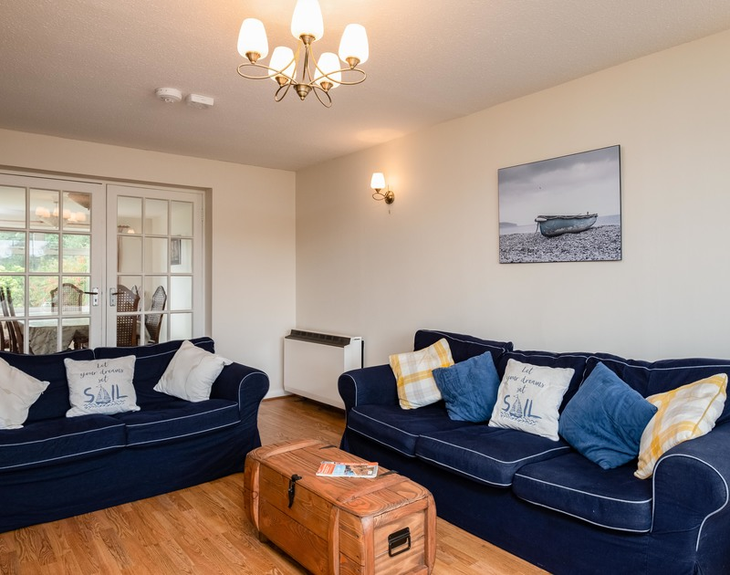 The sitting room at holiday rental Whiteaway near Rock in Cornwall.