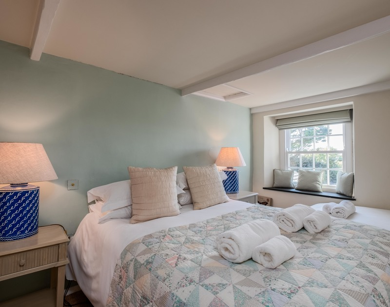 Beautifully furnished and decorated super king sized bedroom at self catering, holiday property Old Farm in Daymer Bay.