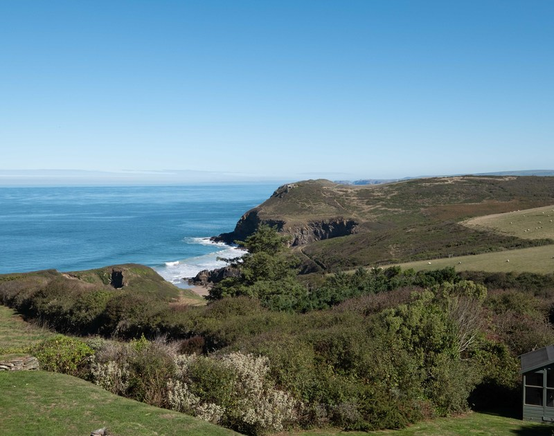A walkers paradise at self catering Trevan House, with the coast path beside the house running down to Lundy Bay then one way towards Pentire Point and Polzeath or around towards Port Isaac.