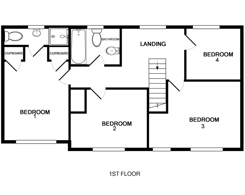 The floor plan for Tresow, a self catering, holiday house to rent in Tredrizzick, Rock, Cornwall.