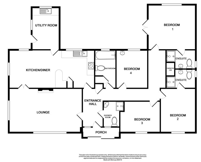 The floor plan for Medway, a self catering, holiday house in Rock, Cornwall.