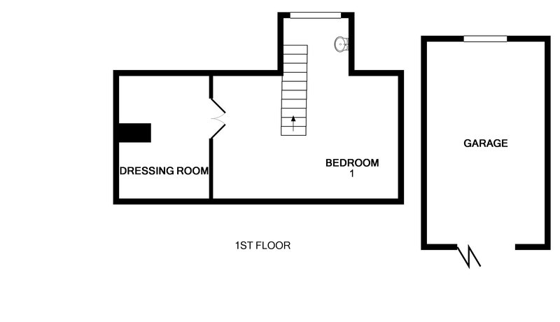 The first floor plan for Avoca, a self catering, holiday rental in Rock, Cornwall.