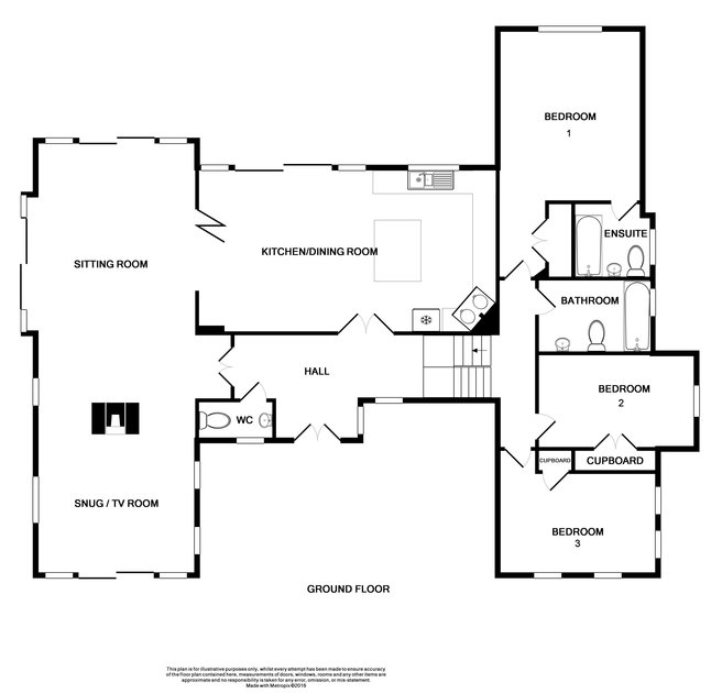 The ground and first floor plan for Oscco, a luxury, holiday house with fabulous sea views over Lundy Bay, near Polzeath in North Cornwall.