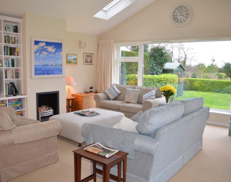 The comfortable living room at Trewin self catering holiday home in Rock.