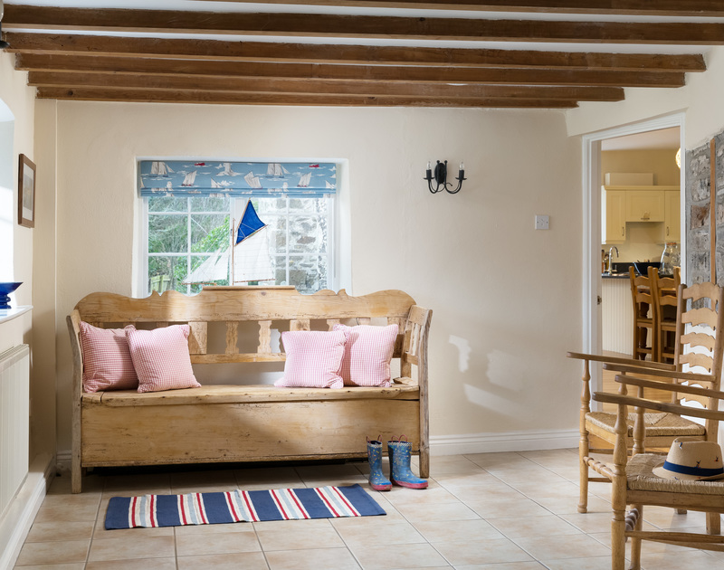 The stylish interiors at The Farmhouse holiday home in St Minver, Rock.