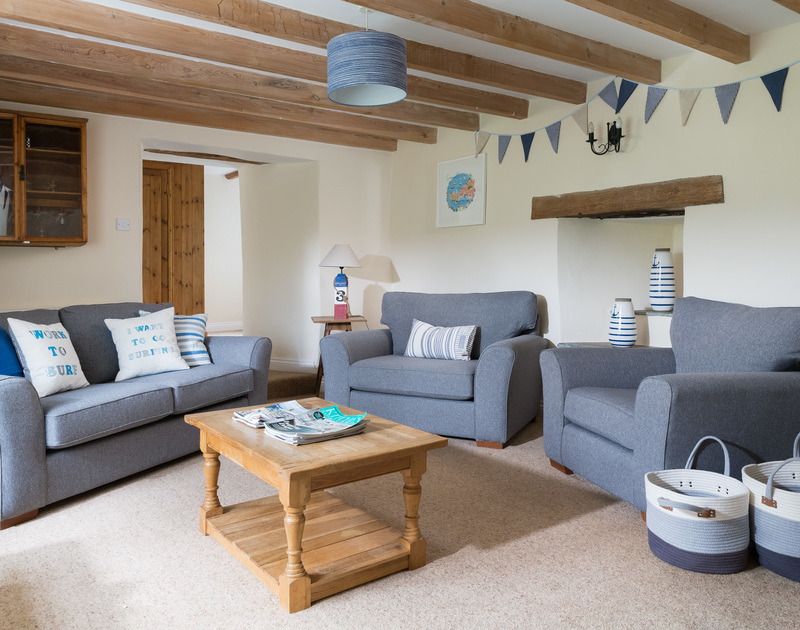 The cosy snug at The Farmhouse holiday home in St Minver, Rock.