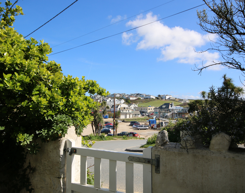 View from the gate - Coppingers Cottage its a few steps onto Polzeath Beach on the North Cornwall coast
