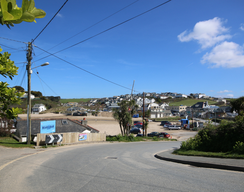 Polzeath's golden sandy surfing beach is less than 50yards from Coppingers Cottage, in Cornwall