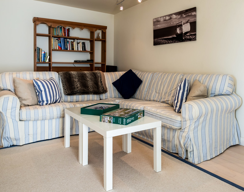 The ground floor TV room in Landers with plenty of books, games and a TV for those wet weather days