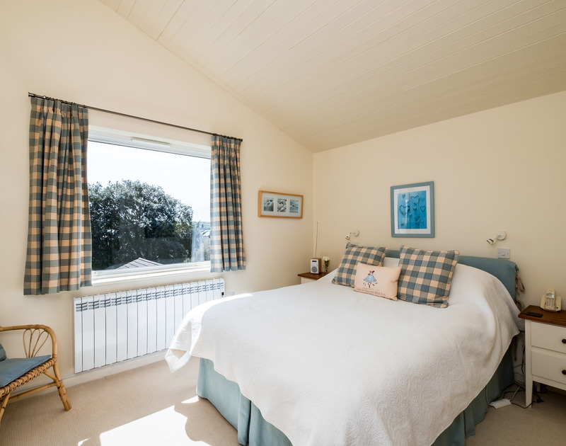 Lovely seaviews from the kingsize double bedroom at Landers, a holiday rental in Rock, Cornwall.