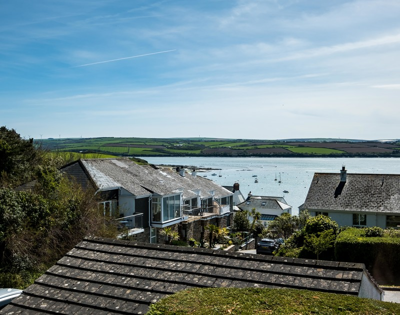 Watch the Camel Estuary tide from the comfort of the master bedroom at Landers in Rock.