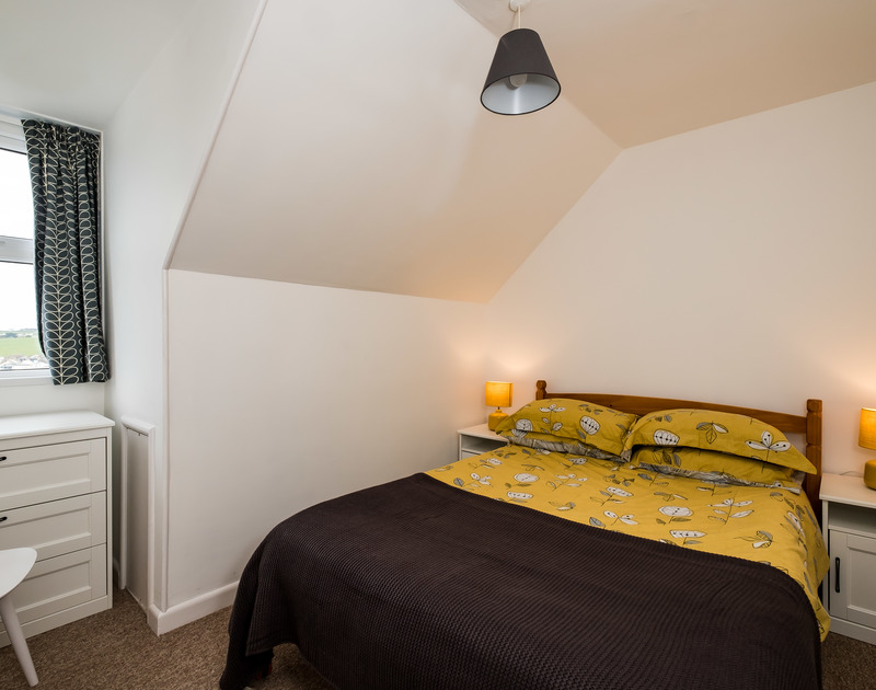 The double bedroom at Pinewood 14, Polzeath, North Cornwall.